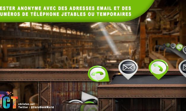 Rester anonyme avec des numéros de téléphone et des adresses e-mail jetables ou temporaires