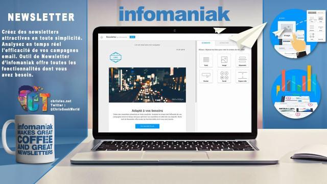 Découverte l'outil de Newsletter illimitée et sans abonnement d'Infomaniak