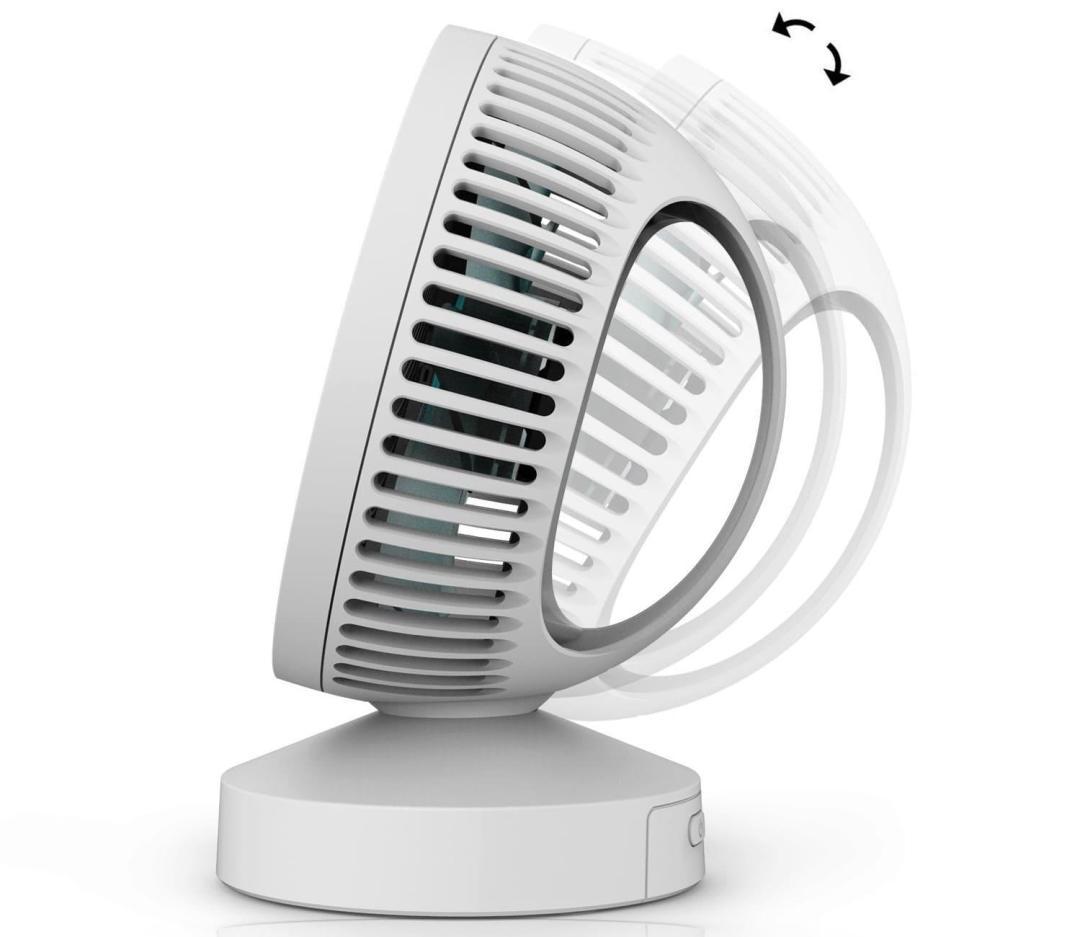image test du ventilateur de bureau usb klim breeze 10