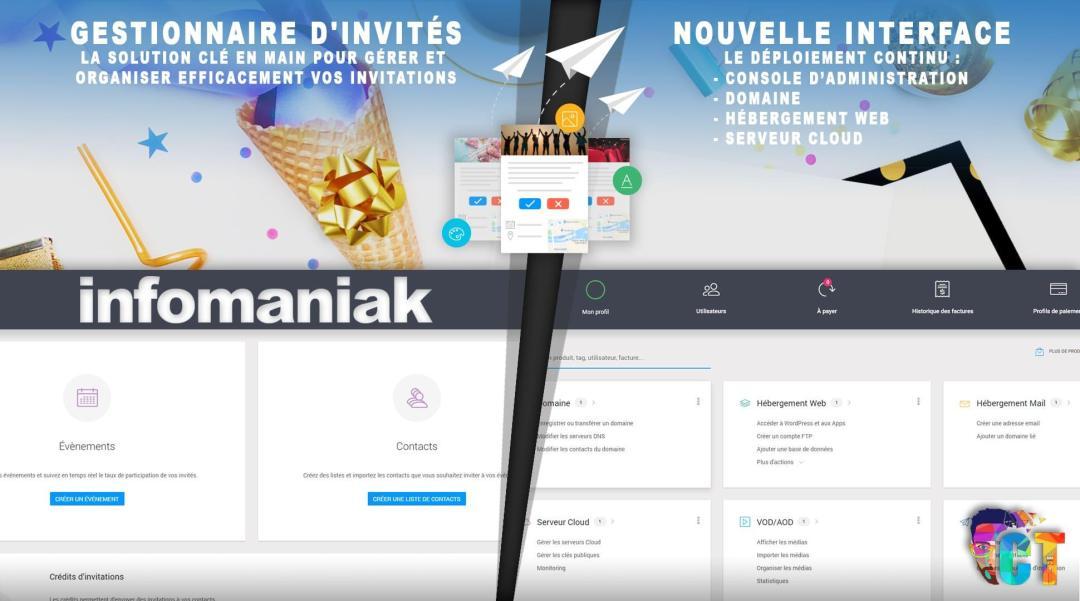 image en-tête Infomaniak, nouveau gestionnaire d'invités et le déploiement de la nouvelle interface continu
