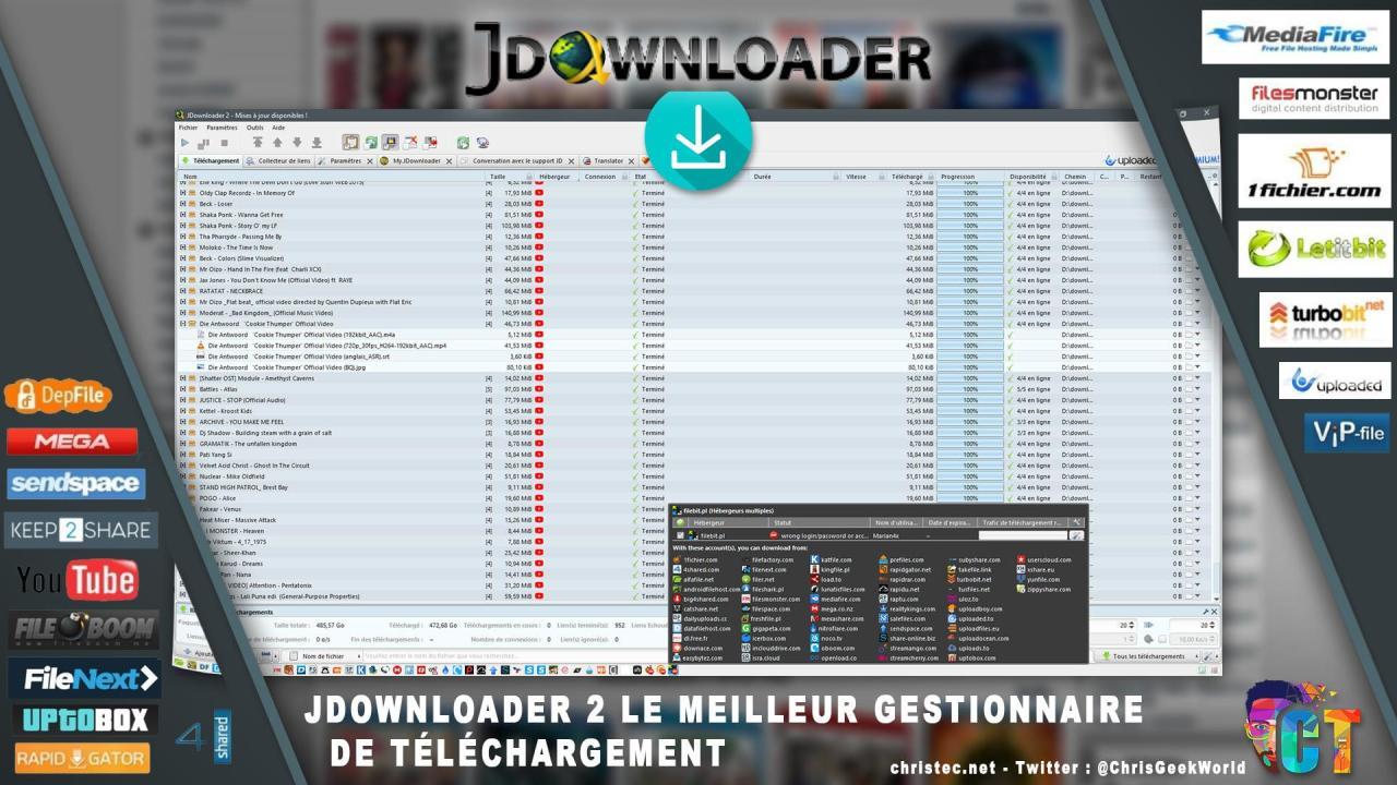 Présentation de Jdownloader2 le meilleur gestionnaire de téléchargement gratuit