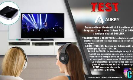 Test du transmetteur, émetteur et récepteur Bluetooth de Aukey