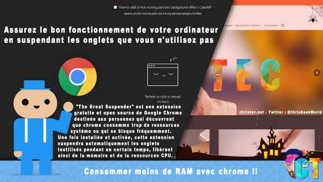 Google Chrome consomme moins de RAM et de ressources CPU avec (The Great Suspender)