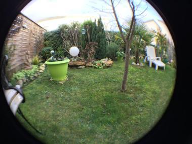 Image objectif Fisheye appareil photo capteur arrière smartphone