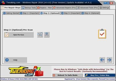 image Tutorielle pour réparer Windows avec le logiciel (Windows repair) 7