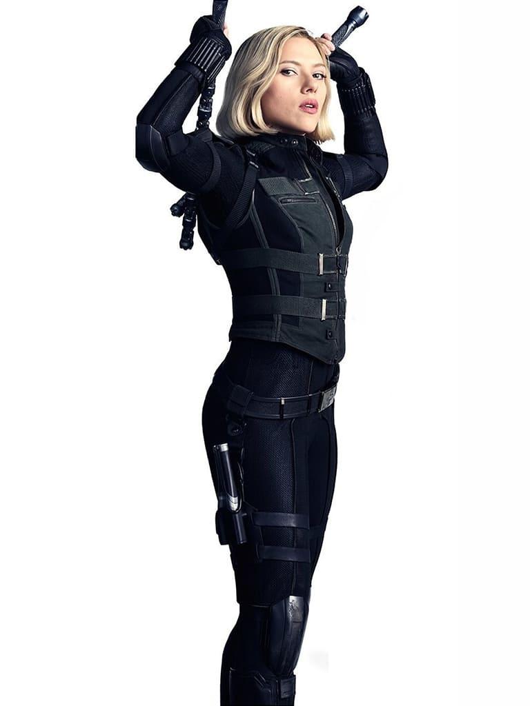"""image Look de """"Black Widow"""" Natasha Romanoff dans Avengers Infinity War (Combinaison et Veste) 6"""