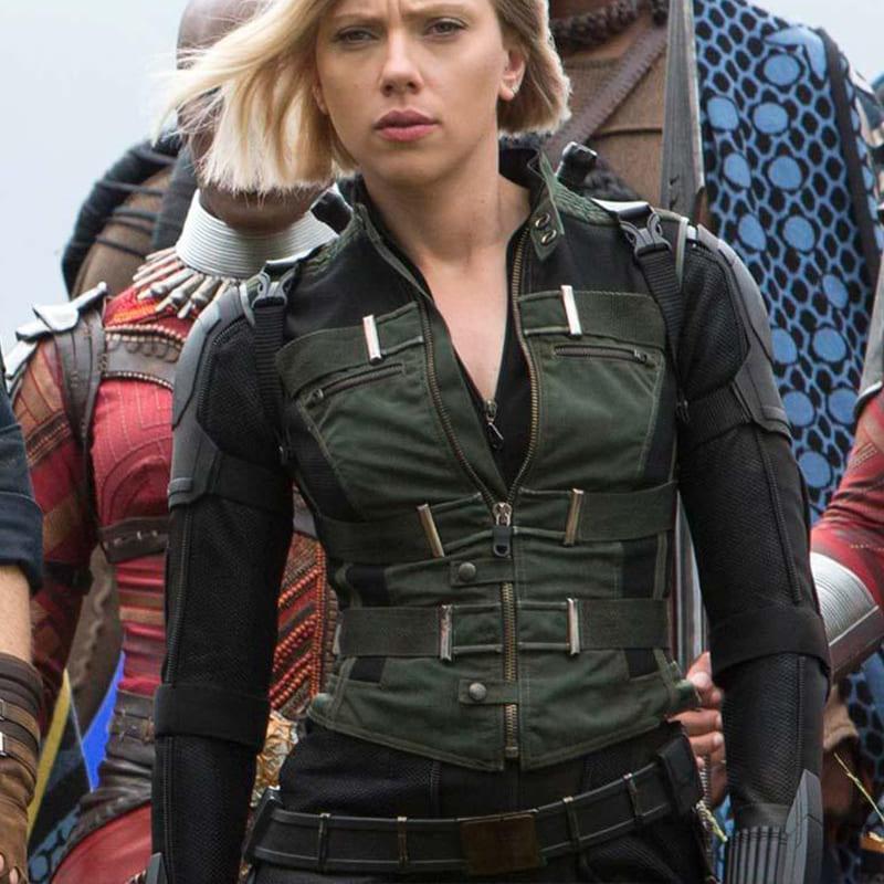 """image Look de """"Black Widow"""" Natasha Romanoff dans Avengers Infinity War (Combinaison et Veste) 22"""