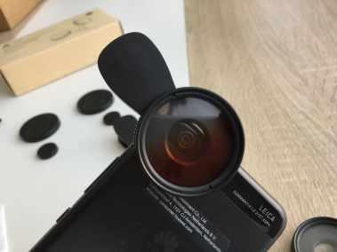 image Test du kit de 3 lentilles Aukey à filtre dégradé gris, bleu, et orange pour smartphone 6