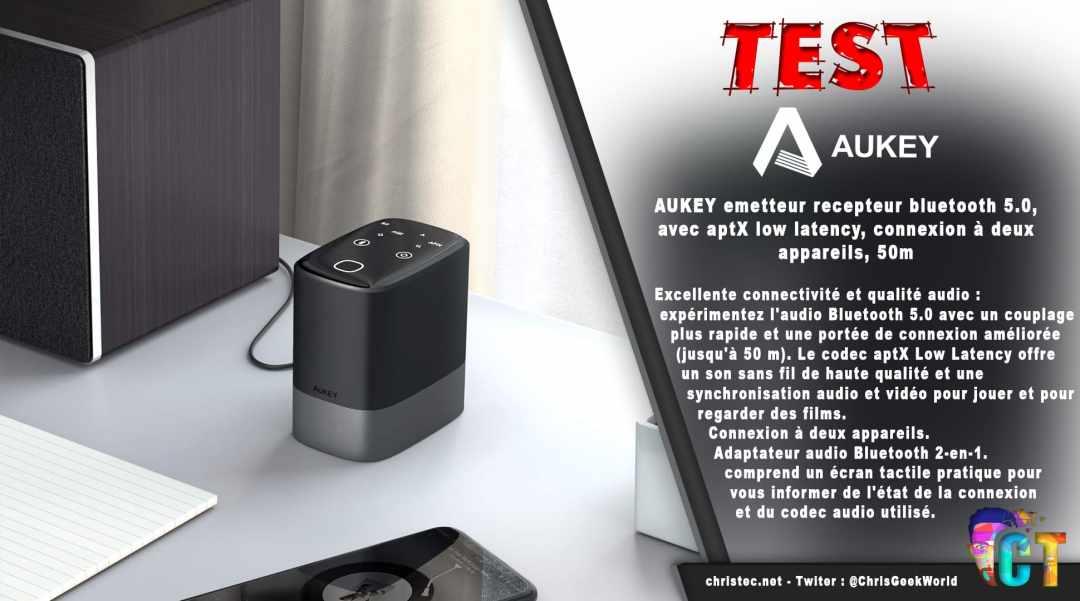 image en-tête Test de l'émetteur-récepteur Bluetooth 5.0 Aukey avec double connexion