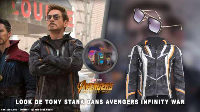 Look de Tony Stark dans Avengers Infinity War (Veste et Lunettes)