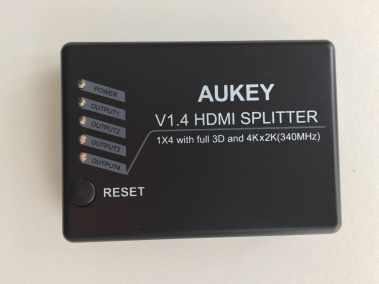 image Test du splitter HDMI 3D et 4K Aukey avec 1 entrée et 4 sorties 3