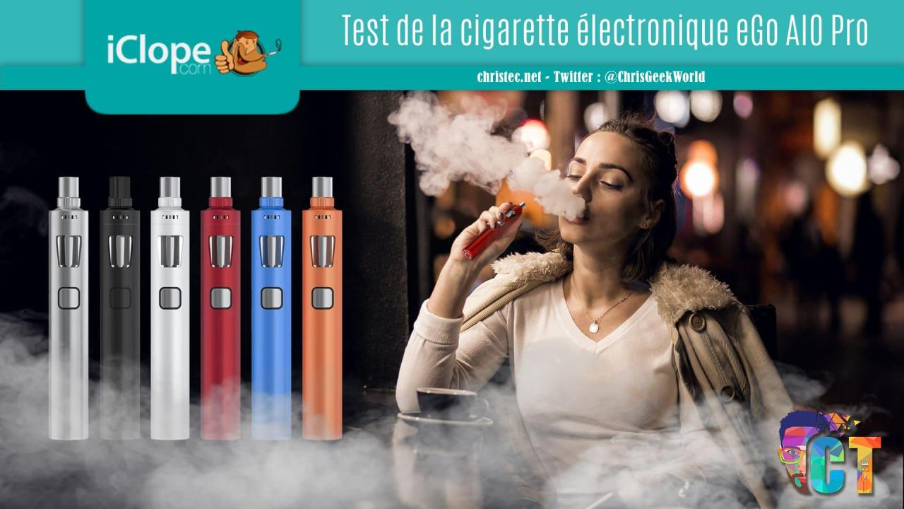 Test et avis de la cigarette électronique eGo AIO Pro de Joyetech