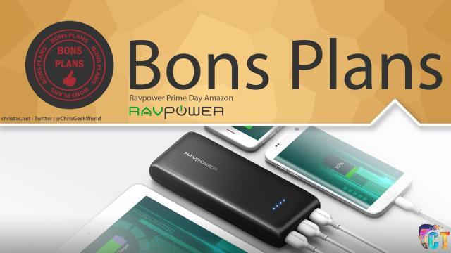 Promos Amazon Prime Day pour les produits Ravpower