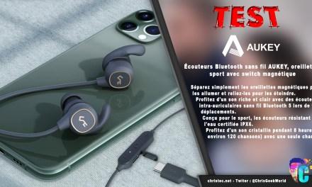 Test des écouteurs Bluetooth EP-B60 AUKEY pour le sport