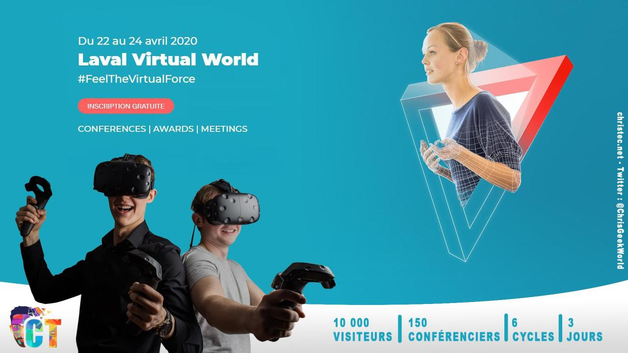 Le Salon Laval Virtual 2020 en version virtuelle du 22 au 24 avril
