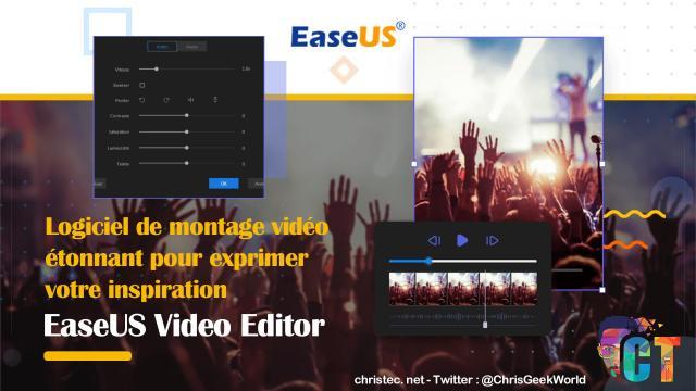 Test de EaseUS Video Editor le logiciel de montage vidéo pour débutants et professionnels