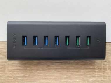 image Test du hub Aukey avec 7 connectiques USB 3.0 et charge rapide 4