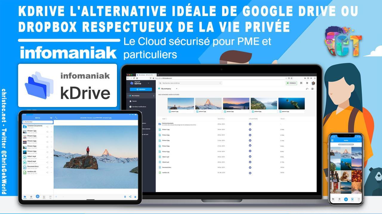 KDrive d'Infomaniak, l'alternative idéale et professionnelle à Google Drive