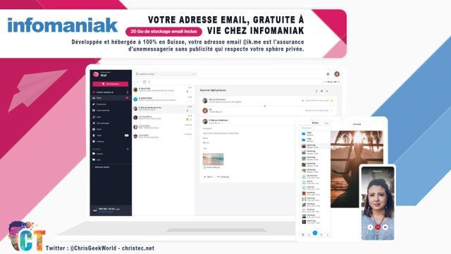 Votre adresse e-mail, gratuite à vie chez Infomaniak