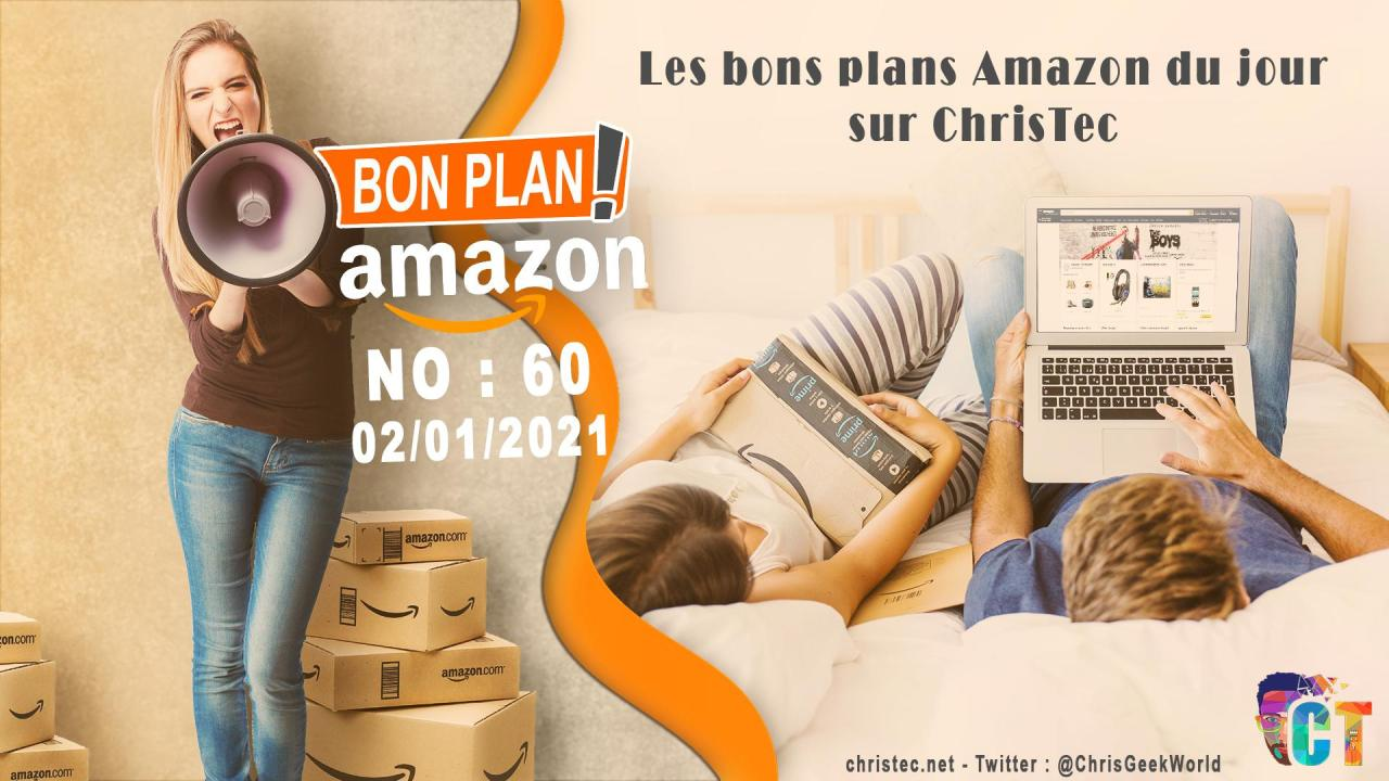 image en-tête Bons Plans Amazon (60) 02 / 01 / 2021