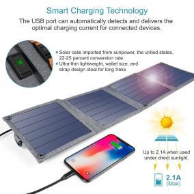 image Concours twitter pour gagner un chargeur solaire pliable Choetech de 14W 2