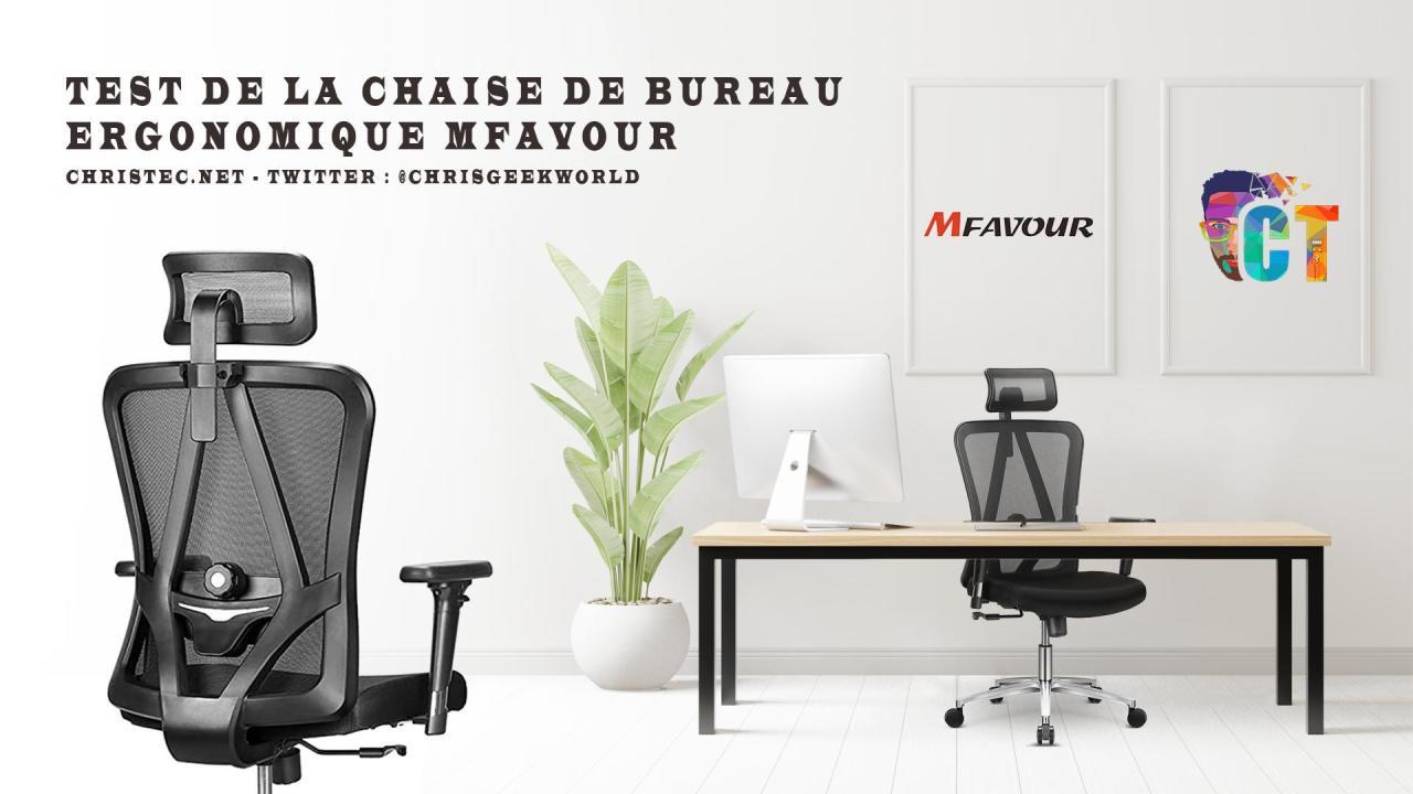 image en-tête Test d'une des meilleures chaises de bureau ergonomique de MFavour