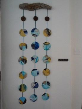 Jardin d'hivers - Collages - tissus-Boutons en céramique-Bois de rivière