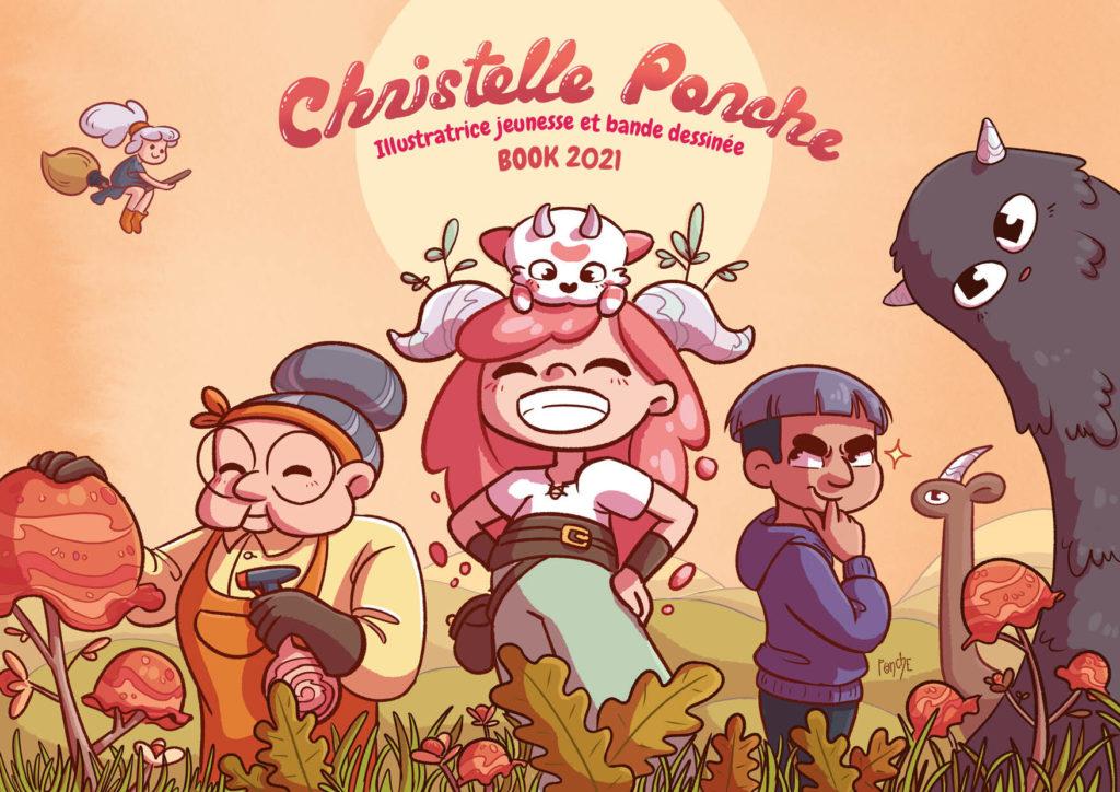 couverture portfolio jeunesse et bande dessinée christelle ponche