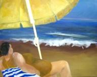 Die türkische Riviera unterm Sonnenschirm 80x100cm Acryl/LW 2010 FRAUEN