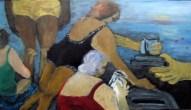 Vom Geben und Nehmen 40 x 70cm Acryl/LW 2014