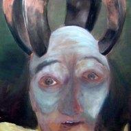 kopflos - sprachlos - wertlos Acryl/LW 120x100cm 2009