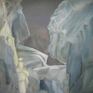 Schneebrücke 80cm x 100cm Öl/LW 2012