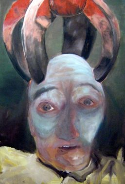 kopflos - sprachlos - wertlos, 120x100cm, Acryl/LW, 2009