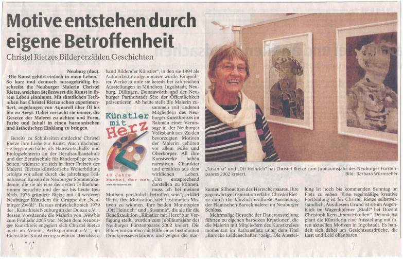 """Antlitze"", Volksbank Neuburg/Do."