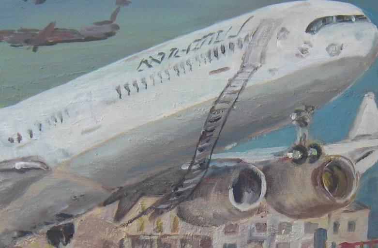 Urlaubsflieger, 40 cm x 40 cm, Aceyl/LW, 2017
