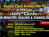Minister Conference with Pastor Chris and Benny Hinn
