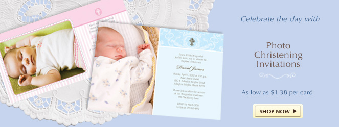 Christening Invitations Thank You