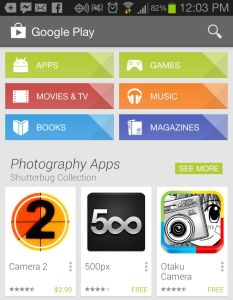 Google Play App Center