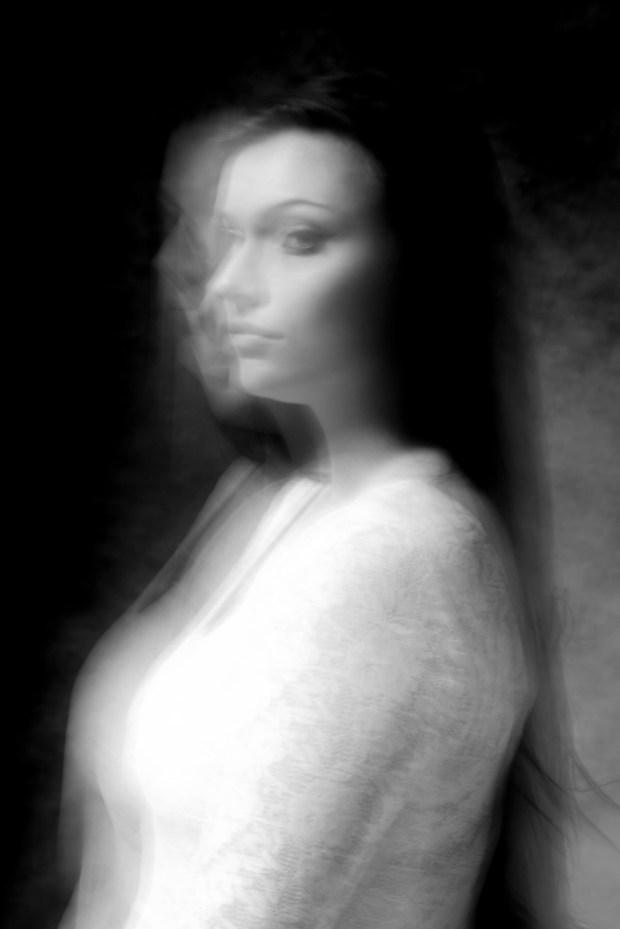 photomodel in monochrome