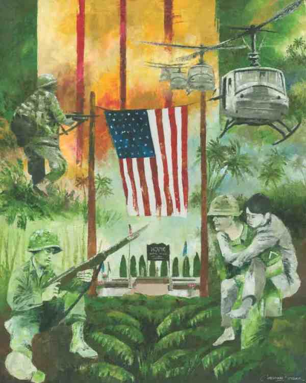 Vietnam War Art Painting