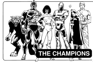 The Champions, an example of a well-rounded team from Hero System.