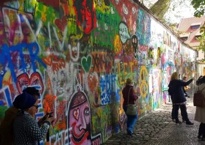 Lennon Wall in Prag Graffiti