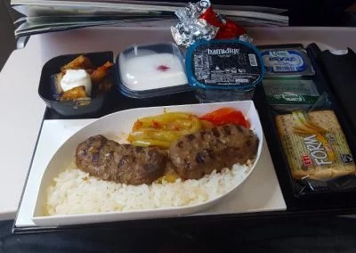 Kebab in Türkisch Airlines