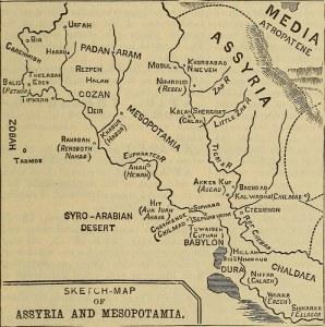 Map of Assyria and Mesopotamia