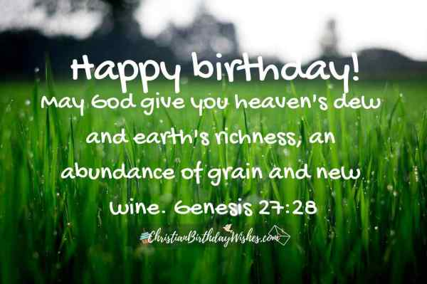Bible Verses For Birthday Blessing - Year of Clean Water