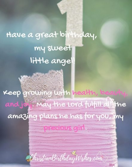 Christian Birthday Wishes For One Year Old Baby Girl : christian, birthday, wishes, Happy, Birthday, Girl!, Lovely, Wishes, Blessings, Little