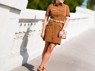 suede dress, current elliot, wedges, 70's