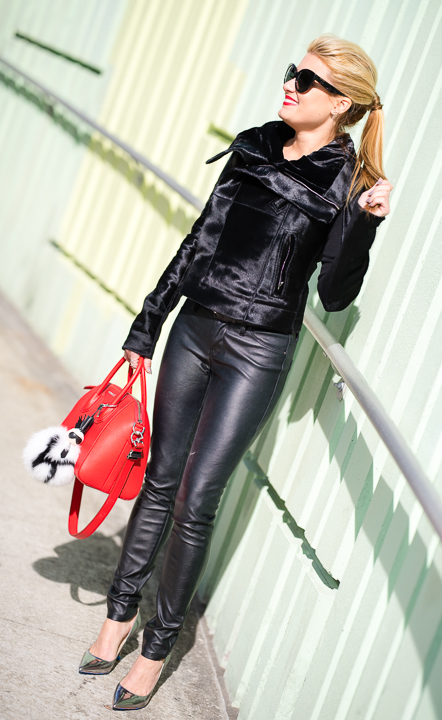 ick owens, leather pants, faux leather, red antigona, givenchy, fend charm, karl lagerfeld, jimmy choo abel, silver pumps