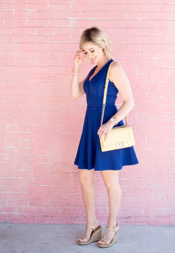 adalyn rae, day dress, tularosa, white denim, topshop, pom poms