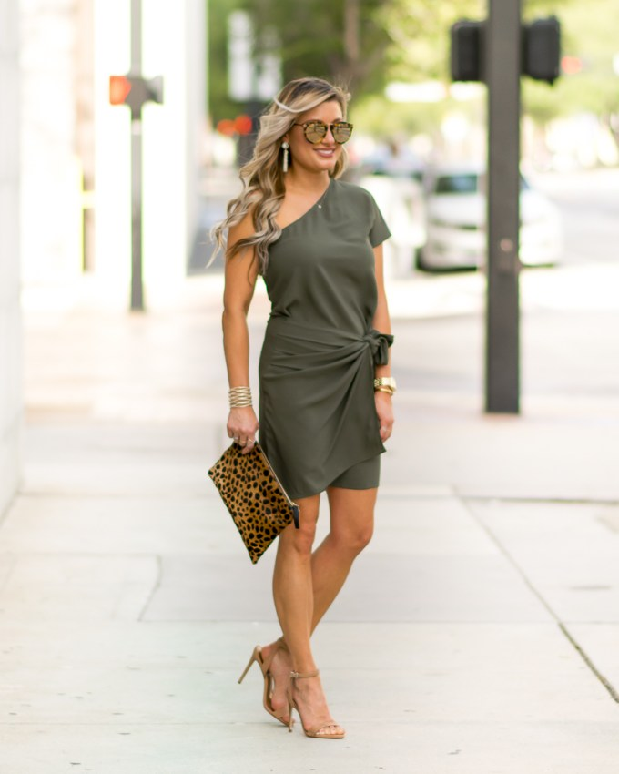 steve madden heels one shoulder dress